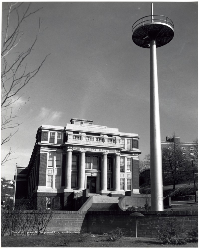 The mast arrived on campus in 1961 and dedicated in 1963.