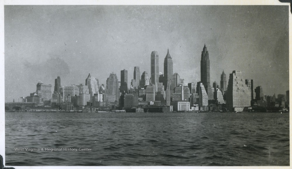 View of the New York City skyline.