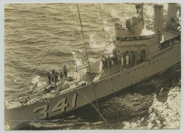 Photograph of the ship taken from the U.S.S. West Virginia.